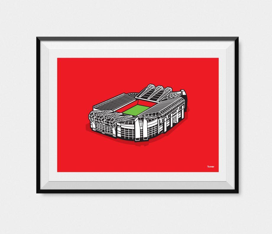 Manchester United Old Trafford Stadium Illustration