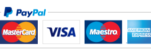 logo accept credit cards and other payment options through PayPal.