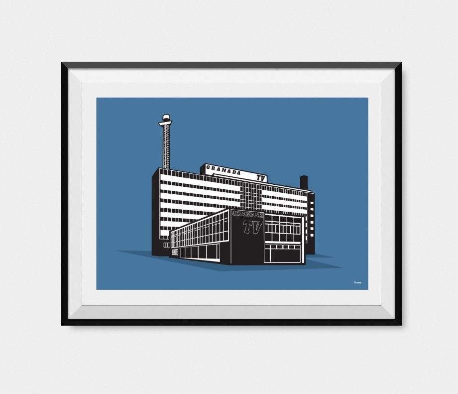 granada tv building illustration