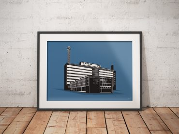 Granada TV Building looking great in a frame