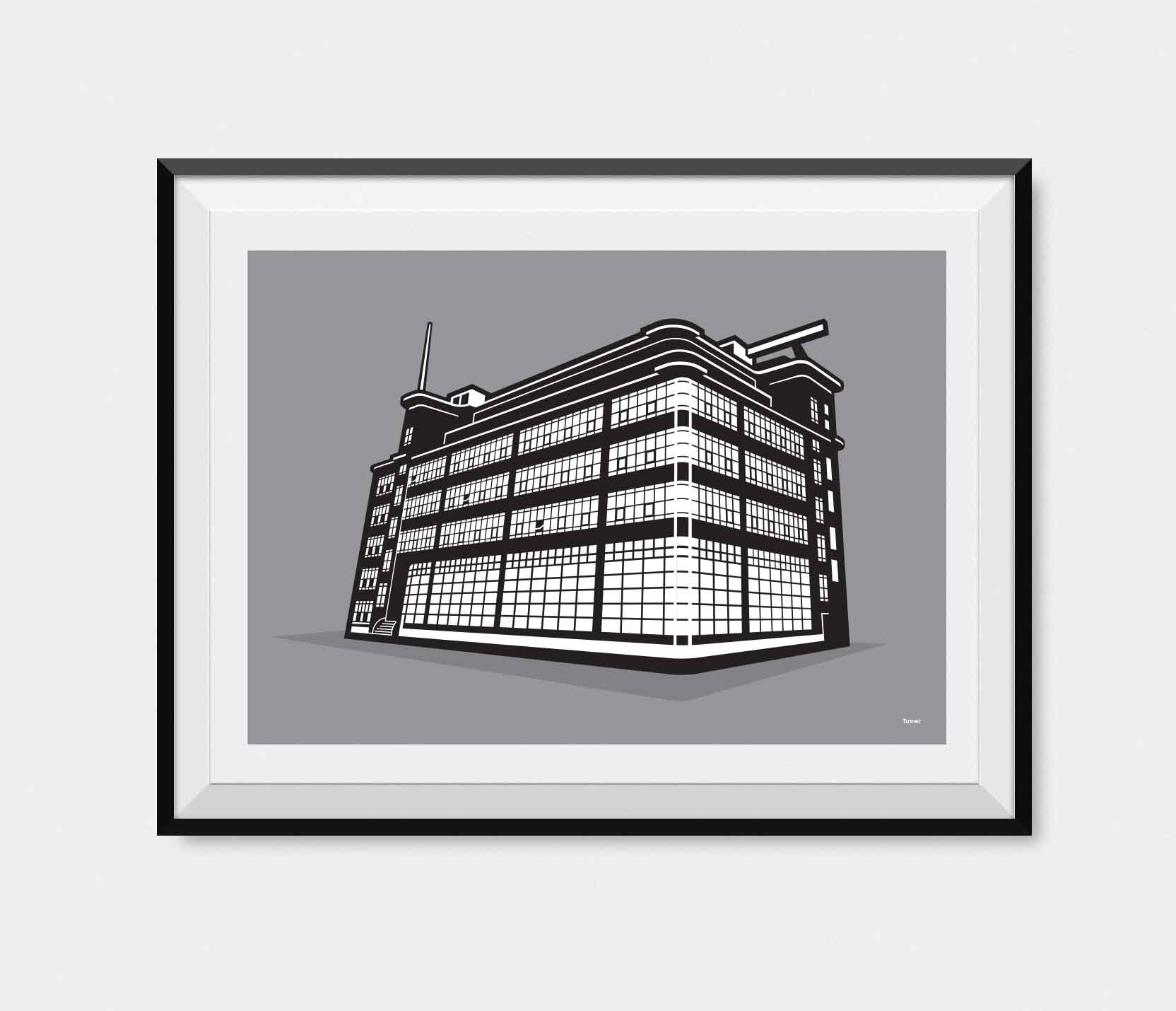 Illustration of The Daily Express Building Manchester