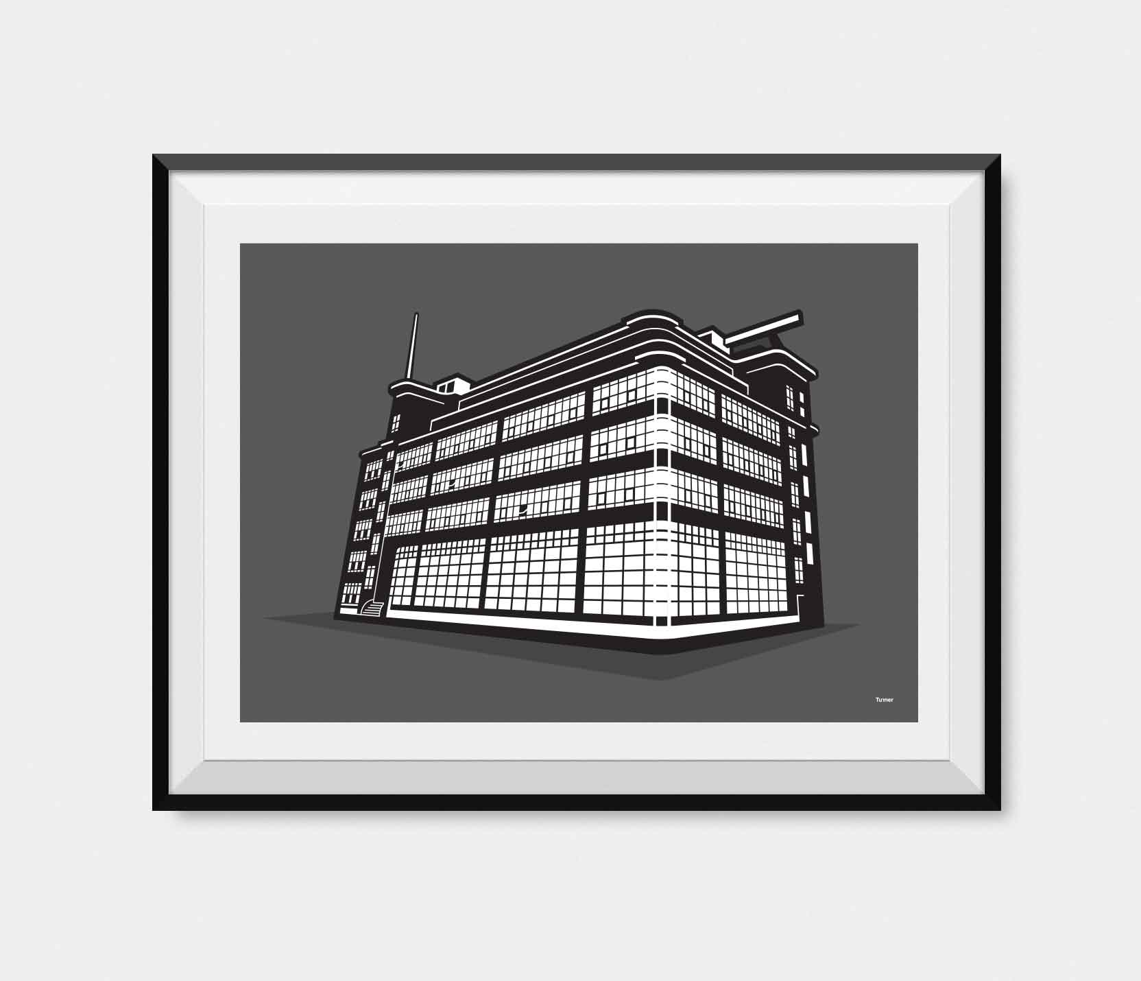 Daily Express Building Manchester Illustration