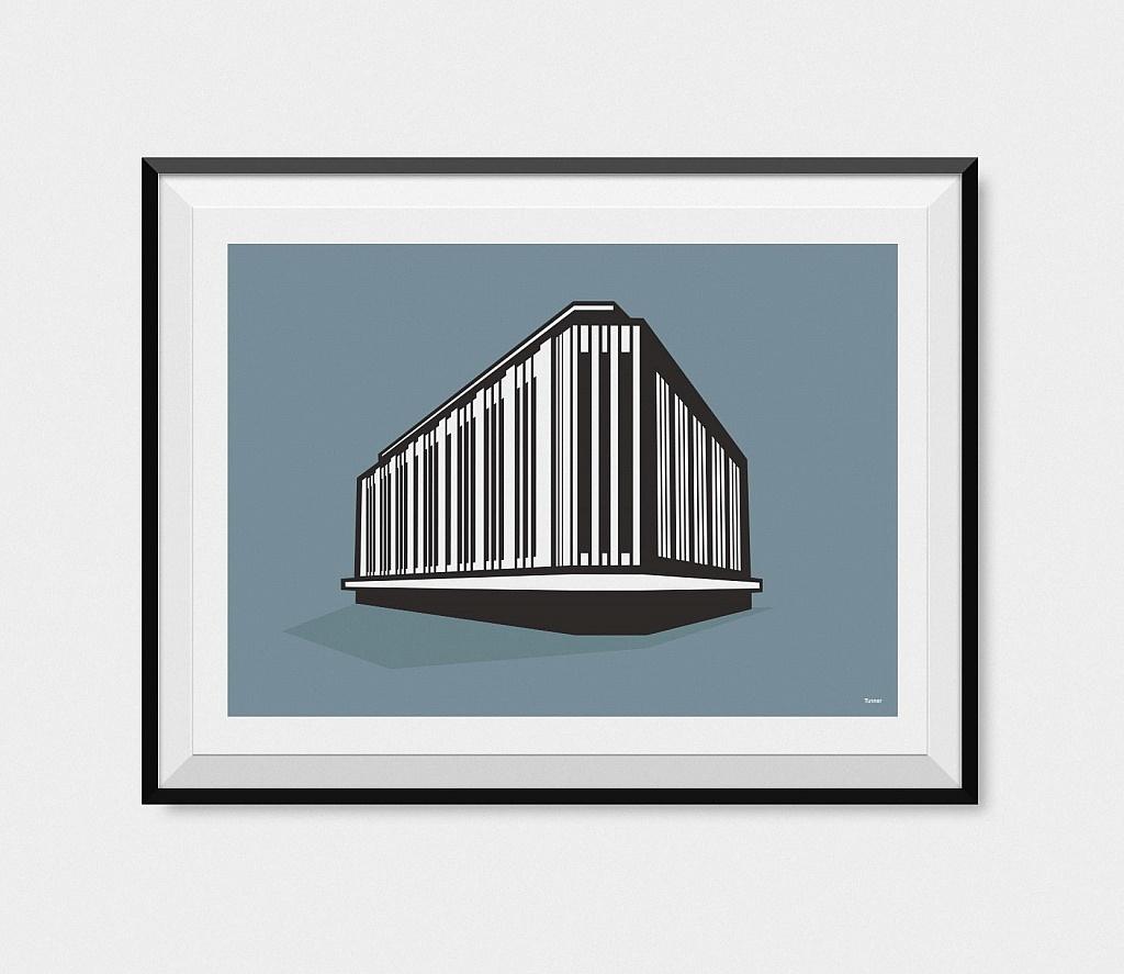 Kendals building manchester framed print