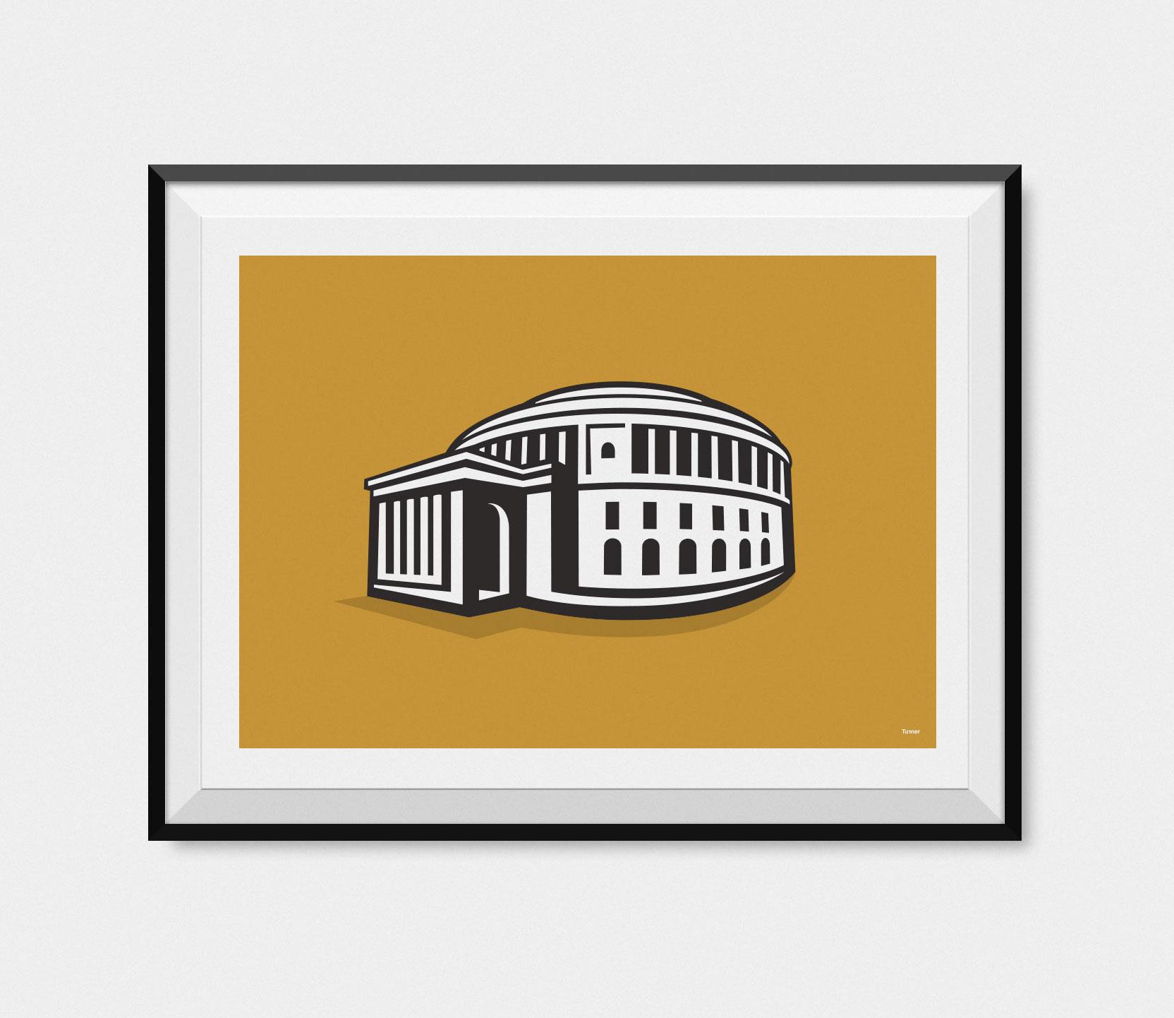 Manchester Central Library framed illustration